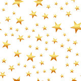 Seamless pattern with yellow stars on white background. vector.  Royalty Free Stock Photos