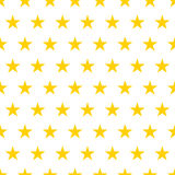 Seamless pattern. Yellow stars on a white background. Vector illustration. Seamless  pattern. Yellow stars on a white background. Vector illustration Royalty Free Stock Photo