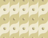 Pattern with yin yang symbols Royalty Free Stock Photo