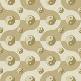 Pattern with yin yang symbols Royalty Free Stock Photos
