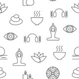 Seamless pattern yoga royalty free illustration