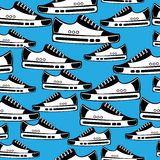Seamless pattern of youth shoes Stock Images