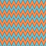 Seamless pattern with zig zag. Stock Images