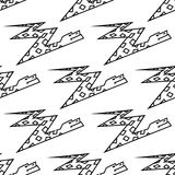 Seamless pattern of a zigzag cartoon boa snake Stock Images