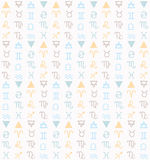 Seamless pattern Zodiac. Stock Images