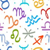 Seamless pattern with zodiac signs for your design Royalty Free Stock Photography