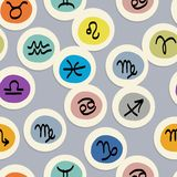 Seamless pattern with zodiac signs for your design Stock Photo