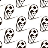 Seamless pattern of zooming soccer balls Royalty Free Stock Photos