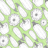 Seamless pattern with zucchini Stock Image