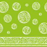 Seamless patterned background. Nice frosty seamless patterned background with canvas, circles, curls and elements of Russian folklore Stock Image