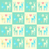 Seamless patterned fill with deers Royalty Free Stock Photos
