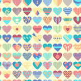 Seamless patterned fill with hearts Royalty Free Stock Photography
