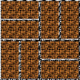 Seamless patterned texture of the frames. In the form of square tiles Stock Images