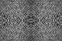 Seamless patterned texture of paving stones, dark background royalty free stock photography