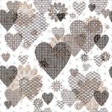 Seamless patterned Valentine Stock Photos