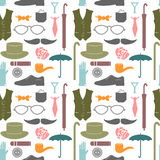 Seamless patternelements for gentlemen Royalty Free Stock Image