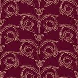 Seamless patternn of vintage floral element royalty free illustration