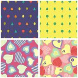 Seamless patterns. Set of the seamless patterns Royalty Free Stock Images
