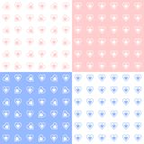 Seamless Patterns. Illustration of love shape seamless patterns or wallpapers set Stock Image