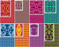 Seamless Patterns. A set of 8 seamless patterns (with examples Stock Images