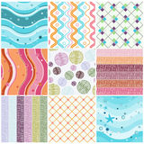 Seamless patterns Royalty Free Stock Images