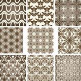 Seamless patterns. Set of nine seamless patterns Stock Image