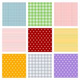 Seamless patterns. Set of backgrounds. Colorful illustration Stock Photography