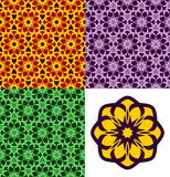 Seamless patterns. Royalty Free Stock Photography
