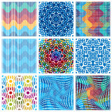 Seamless patterns. Royalty Free Stock Photos