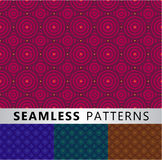 Seamless patterns. Four seamless patterns in different colors Stock Photo
