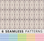 Seamless patterns. In different colors Royalty Free Stock Image