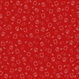 Seamless patterns for advertising and discount banners. Stores, shopping, marketing. Seamless patterns on a red background for advertising and discount banners Royalty Free Stock Photo