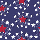 Seamless patterns with American symbols. Vector. Stock Image