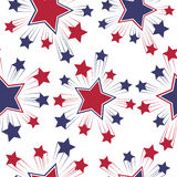 Seamless patterns with American symbols. Vector. Stock Photo