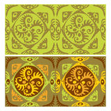 Seamless patterns with an ancient symbol of the sun. Vector Stock Photo
