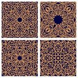 Seamless patterns of arabic ornament Stock Photos