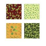 Seamless patterns autumn motifs. Vector illustration Royalty Free Stock Photography