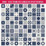 100 Seamless Patterns Background Collection stock illustration