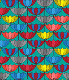 Seamless Patterns Background With Retro Umbrellas, Repeating Royalty Free Stock Photos