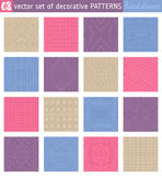 Seamless Patterns backgrounds. Ideal for printing onto fabric Stock Images