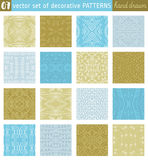 Seamless Patterns backgrounds. Ideal for printing onto fabric Stock Image