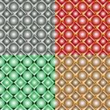 Seamless patterns with balls Stock Photos