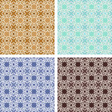 Seamless patterns beautiful backgrounds set, old and retro style Royalty Free Stock Photos