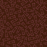 Seamless patterns with beauty items lipsticks Royalty Free Stock Photography