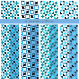 4 seamless patterns Stock Image