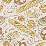 Seamless Patterns with breads Stock Image
