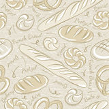 Seamless Patterns with breads Stock Photography