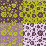 Seamless patterns with buttons Stock Image