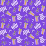 Seamless patterns with christmas elements Stock Photo