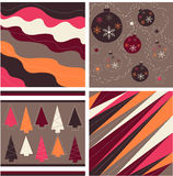 seamless patterns, christmas fabric texture royalty free illustration